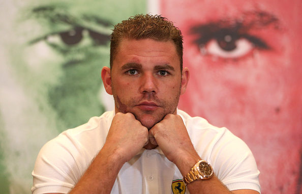 LONDON, ENGLAND - OCTOBER 22: Billy Joe Saunders is pictured in front of a photograph of himself during an Andy Lee and Billy Joe Saunders Head to Head Press Conference at the Landmark Hotel on October 22, 2015 in London, England. (Photo by Andrew Redington/Getty Images)