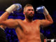 LONDON, ENGLAND - MAY 05: Tony Bellew celebrates victory after Heavyweight fight between Tony Bellew and David Haye at The O2 Arena on May 5, 2018 in London, England. (Photo by Richard Heathcote/Getty Images)