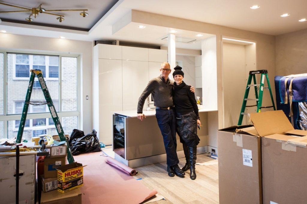 Interior designer Kevin Gray and design assistant Ullie | MOVE IN UES condo conversion | Kevin Gray Design