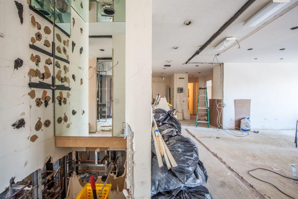 Living Room DEMO UES condo conversion | Kevin Gray Design
