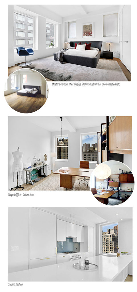 Staged Tribeca Loft Living Room | Introducing Staging Services by Kevin Gray Design | Interior Designer Kevin Gray | Kevin Gray Design