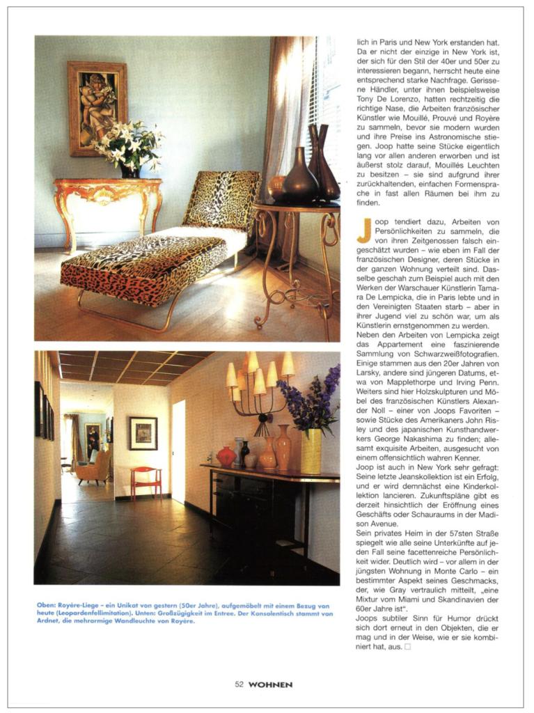 Never Seen Photos from Wohnen Magazine: Wolfgang Joop New York Sutton Place Penthouse