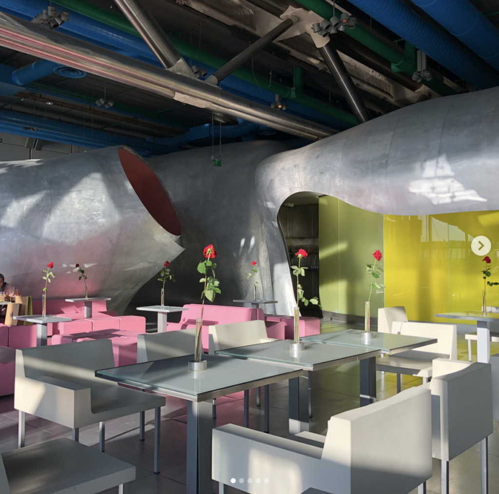 Chez George Paris, cutting edge rooftop restaurant of the George Pompidou Museum. Best art and views in Paris!