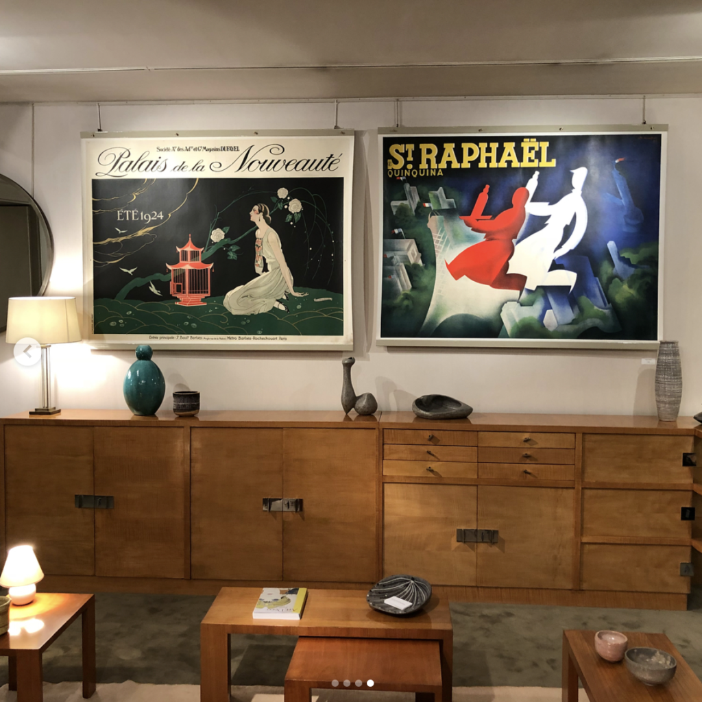 Paris, Anne Sophie Duval. The most beautiful St Germain store which showcases the best Art Deco & Modernist 40-50's. Julie Blum is the daugher who has filled her mothers shoes and done a brilliant job.