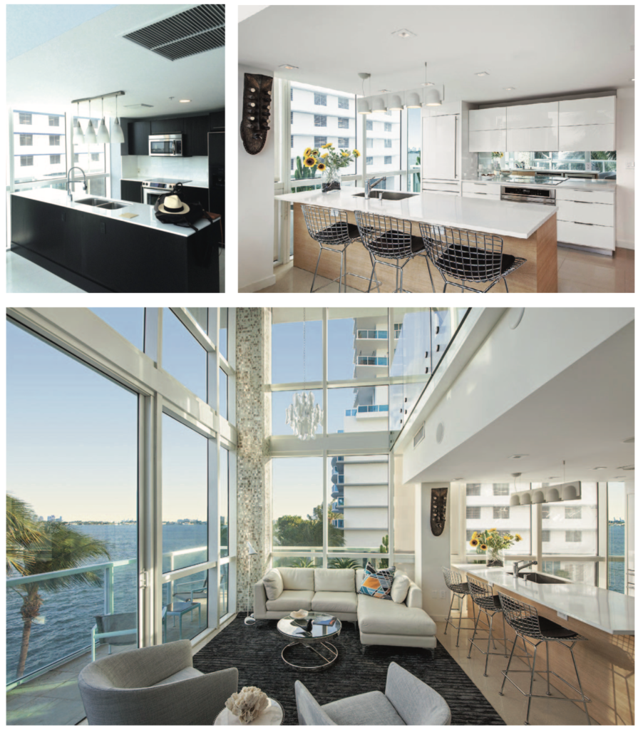 Before and After: Kevin Gray Design Transforms Miami Duplex Condo Kitchen