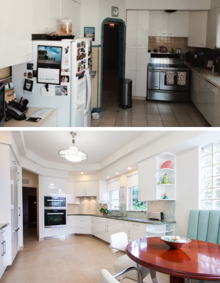 Before and After: Art Deco Kitchen Transformation by Kevin Gray Design