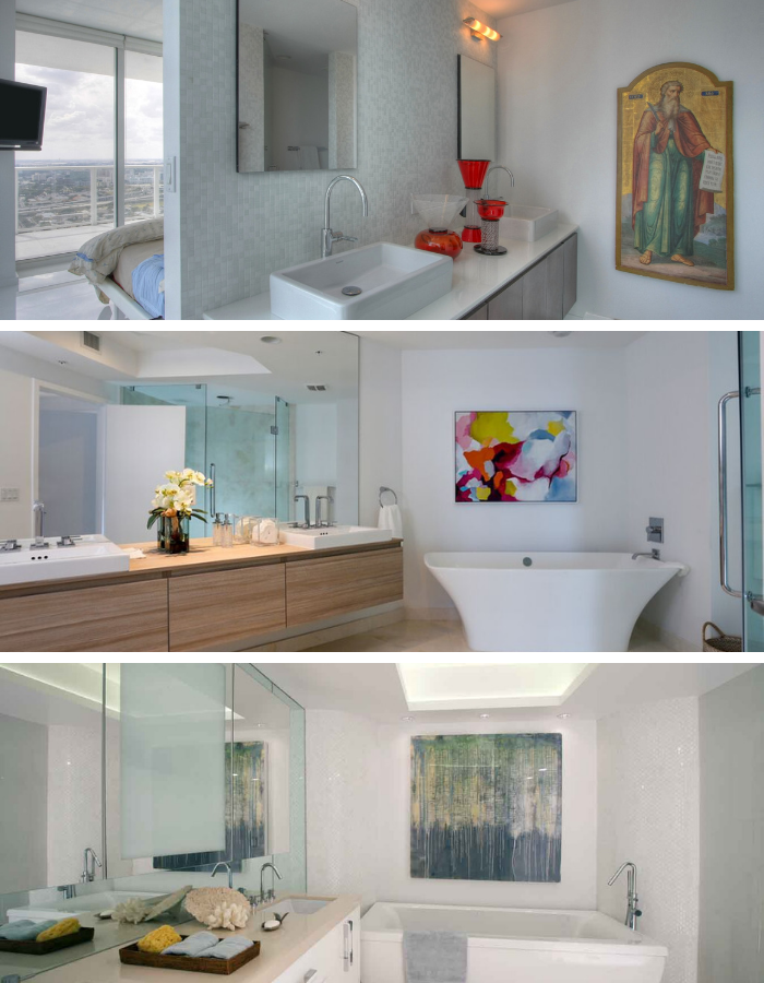 Statement art in bathroom design | Interior Designer Kevin Gray