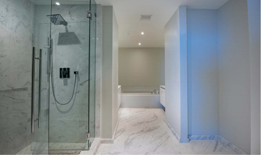 Before Bath | Paramount Residences Fort Lauderdale Rebuild and Redecoration by Kevin Gray Design