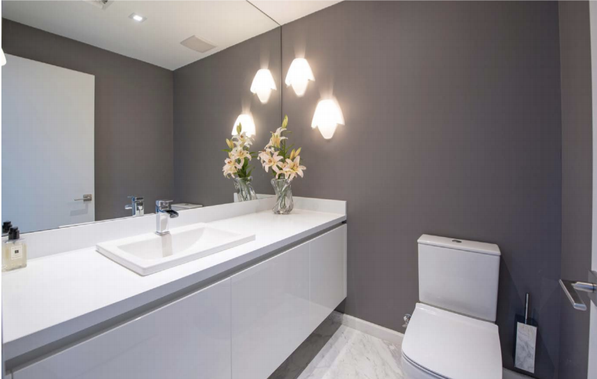 Guest Bathroom | Paramount Residences Fort Lauderdale Rebuild and Redecoration by Kevin Gray Design