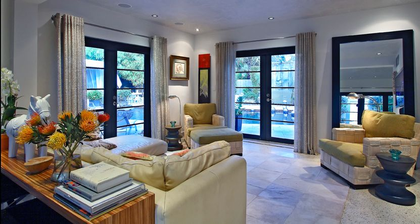 Revisiting Interior Designer Kevin Gray's Zen Inspired Mid-Century Bungalow Renovation- Living Room