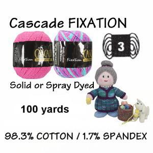 FIXATION Solid or Spray-Spray-Dyed Yarn