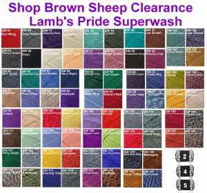SUPERWASH Lamb's Pride - Sport, Worsted or Bulky - CLEARANCE