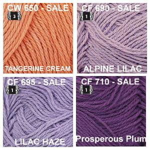 CF or CW Tangerine Cream, Alpine Lilac, Lilac Haze, Prosperous Plum