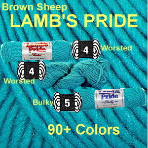 LAMB'S PRIDE - Bulky or Worsted Yarn