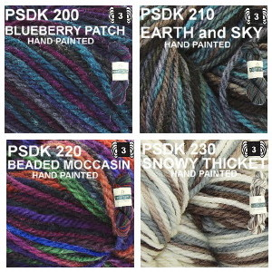 PSDK color group 8 Blueberry Patch, Earth and Sky, Beaded Moccasin, Snowy Thicket