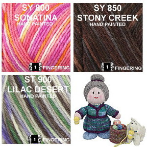 SY color group 14, Symphony, Sonatina, Stone Creek and Lilac Desert.