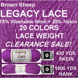 LEGACY LACE YARN - CLEARANCE SALE