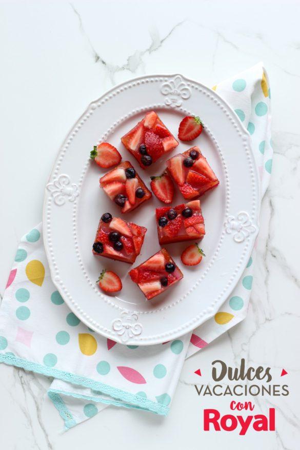 gelatina frutas cubos receta