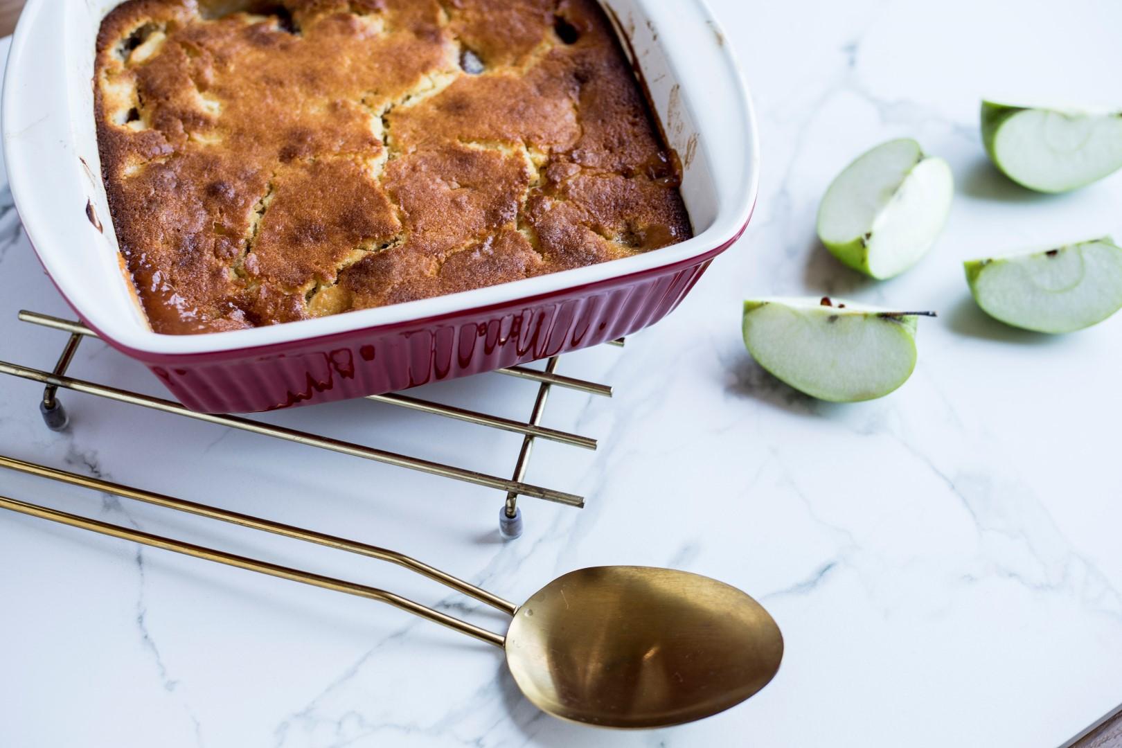 postre cobbler de manzana y dulce de membrillo Los Nietitos, receta de cocina, postres.