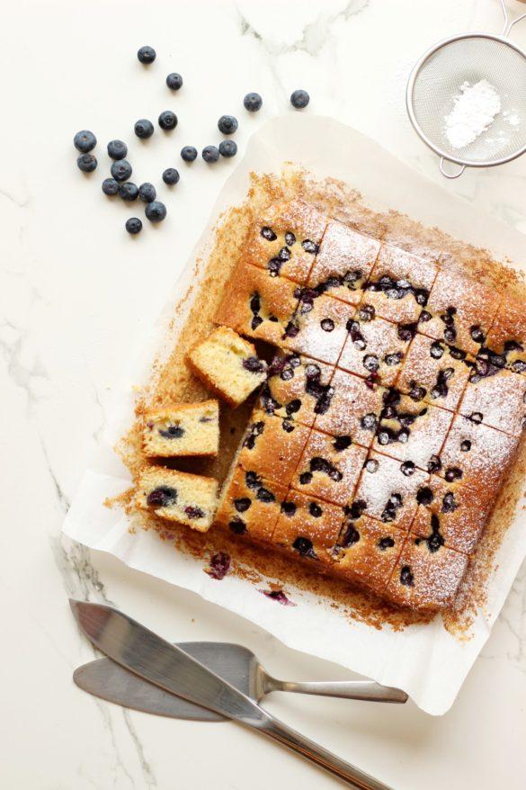 torta de arándanos, recetas de cocina, cake, fácil
