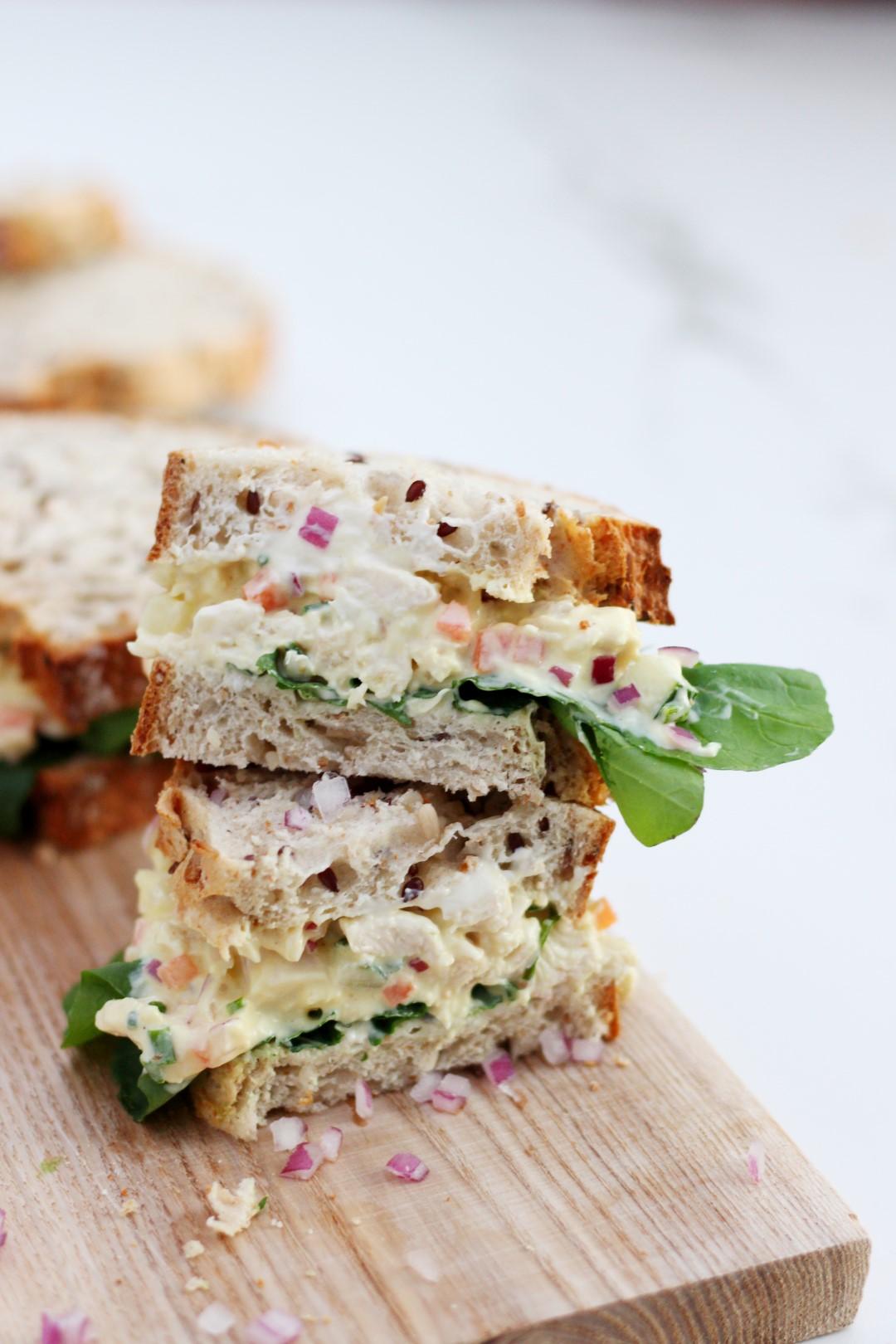 salad sandwich de pollo, emparedado de pollo, recetas de cocina, recetas de pollo, como cocinar pollo.
