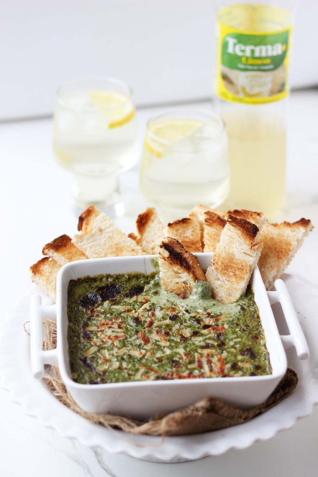 dip caliente de espinacas y queso, como cocinar espinacas, recetas de cocina, fácil.