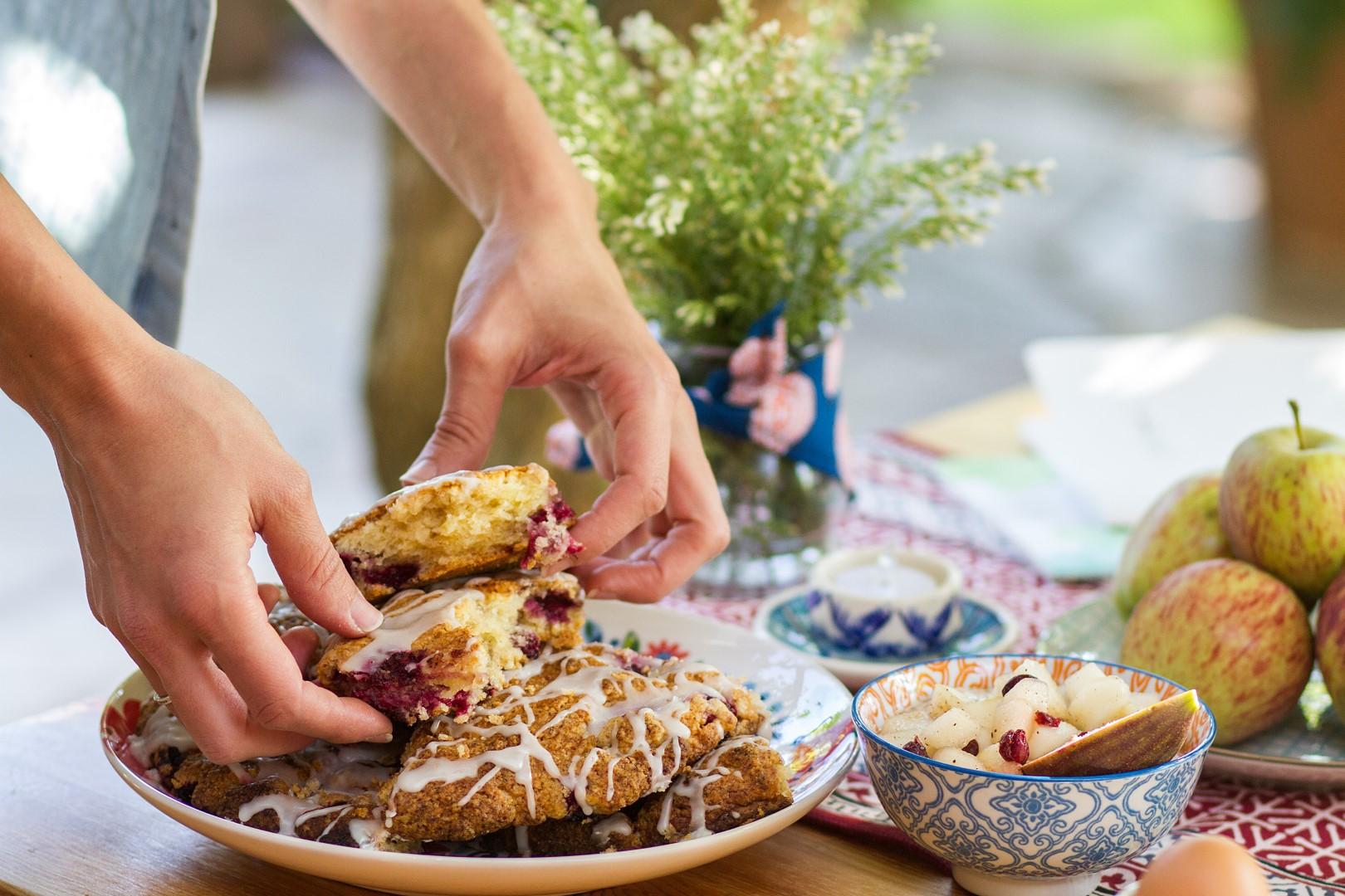 poner la mesa, la compañía del oriente, sur la table, blog, desayuno, receta, scones, mermelada