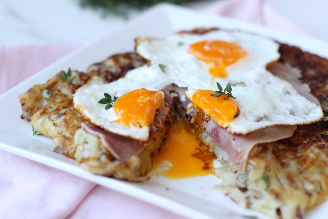 papas a la suiza, huevo frito, flip essen, sartén essen, comidas rápidas, recetas fáciles,