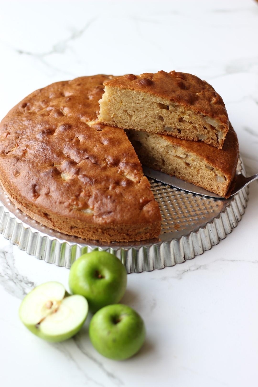 torta simple fácil de manzana, recetas de cocina, meriendas colegio, meriendas escolares, fruta