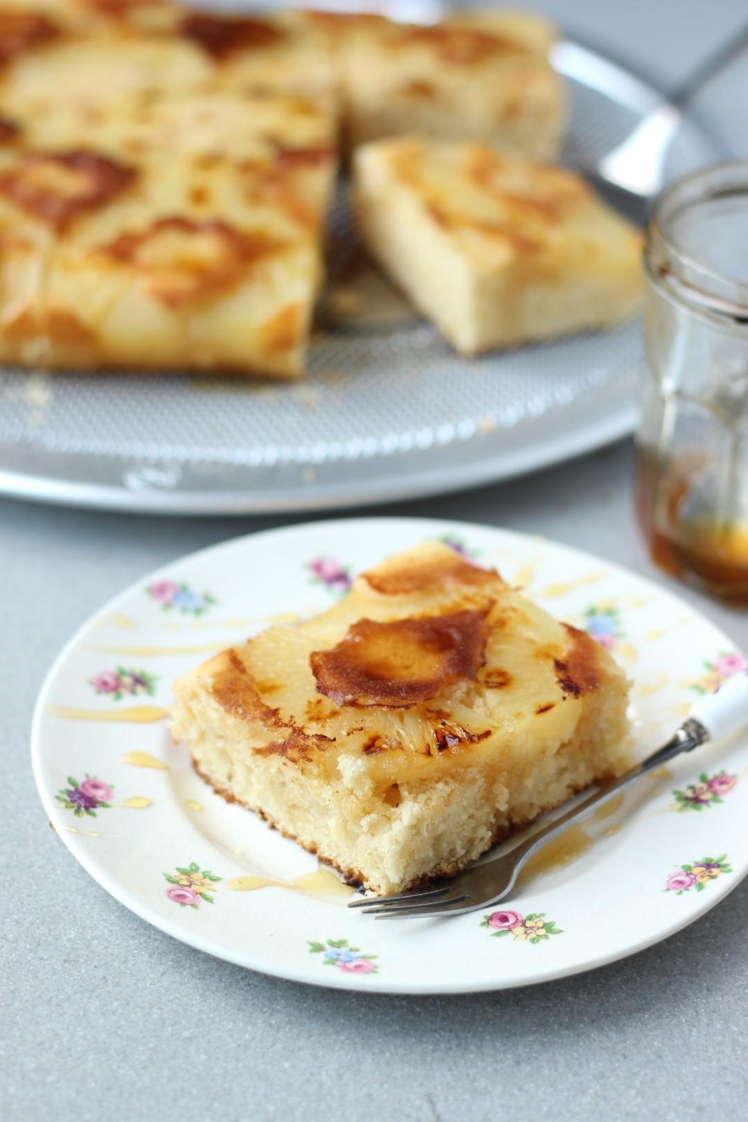 Torta Flip de Ananá y miel, recetas Essen, Sandwichera multifunción Essen, Flip Essen, tortas rápidas, recetas de cocina.
