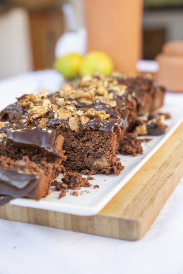 budin triple chocolate, budin de chocolate, chocolate cake