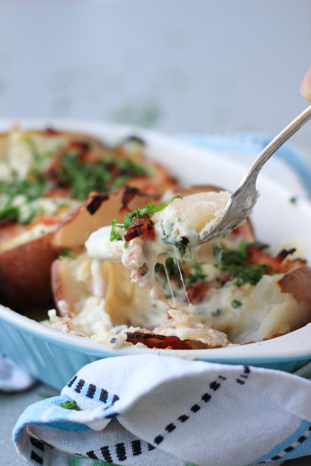 loaded potatoes, papas rellenas, casancrem, recetas fáciles, recetas de cocina, cena,