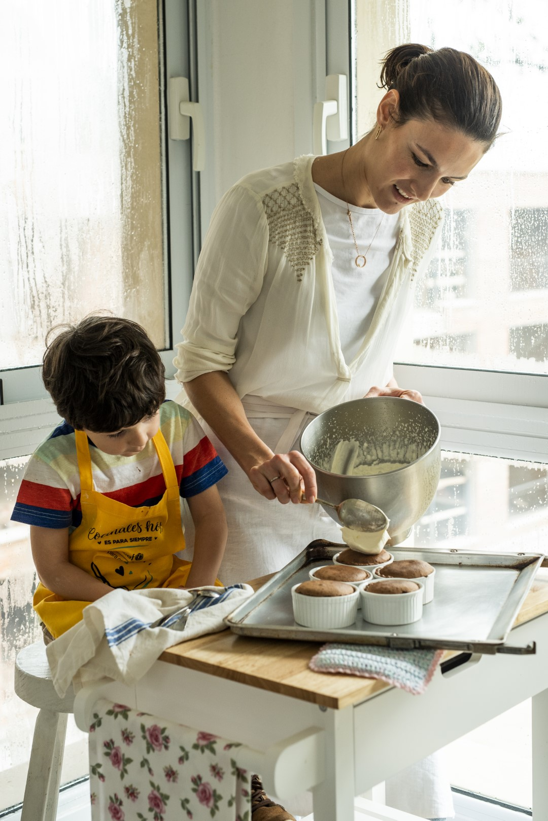 Día de la madre, marquise de chocolate, aceite de oliva, colinas de garzón, uruguay, cocinar con niños