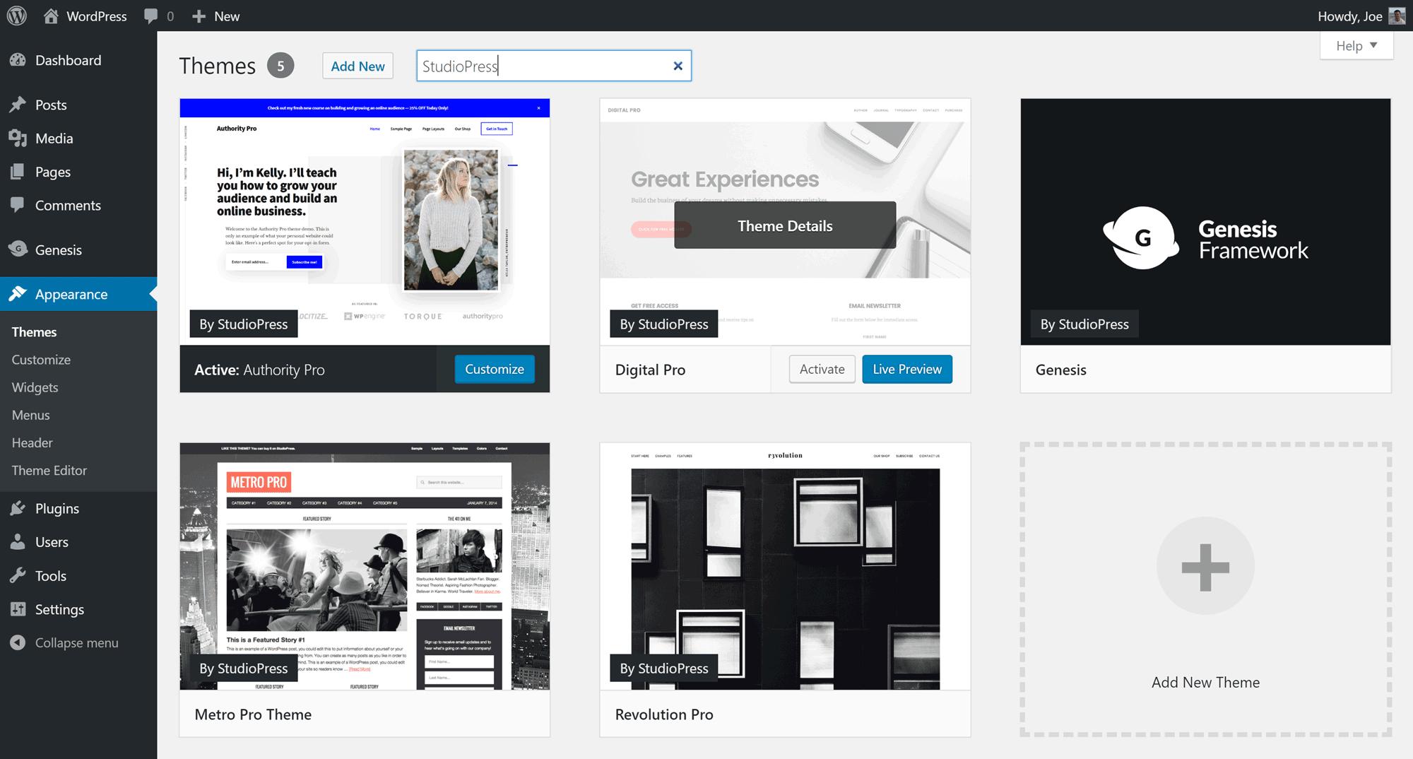 studiopress, herramientas para vlogueros, empezar un blog, wordpress
