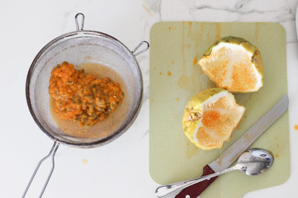 mousse de maracuyá de licuadora, passion fruit mousse, mousse de maracuyá fácil, pocos ingredientes, sin gluten, sin huevo, sin gelatina
