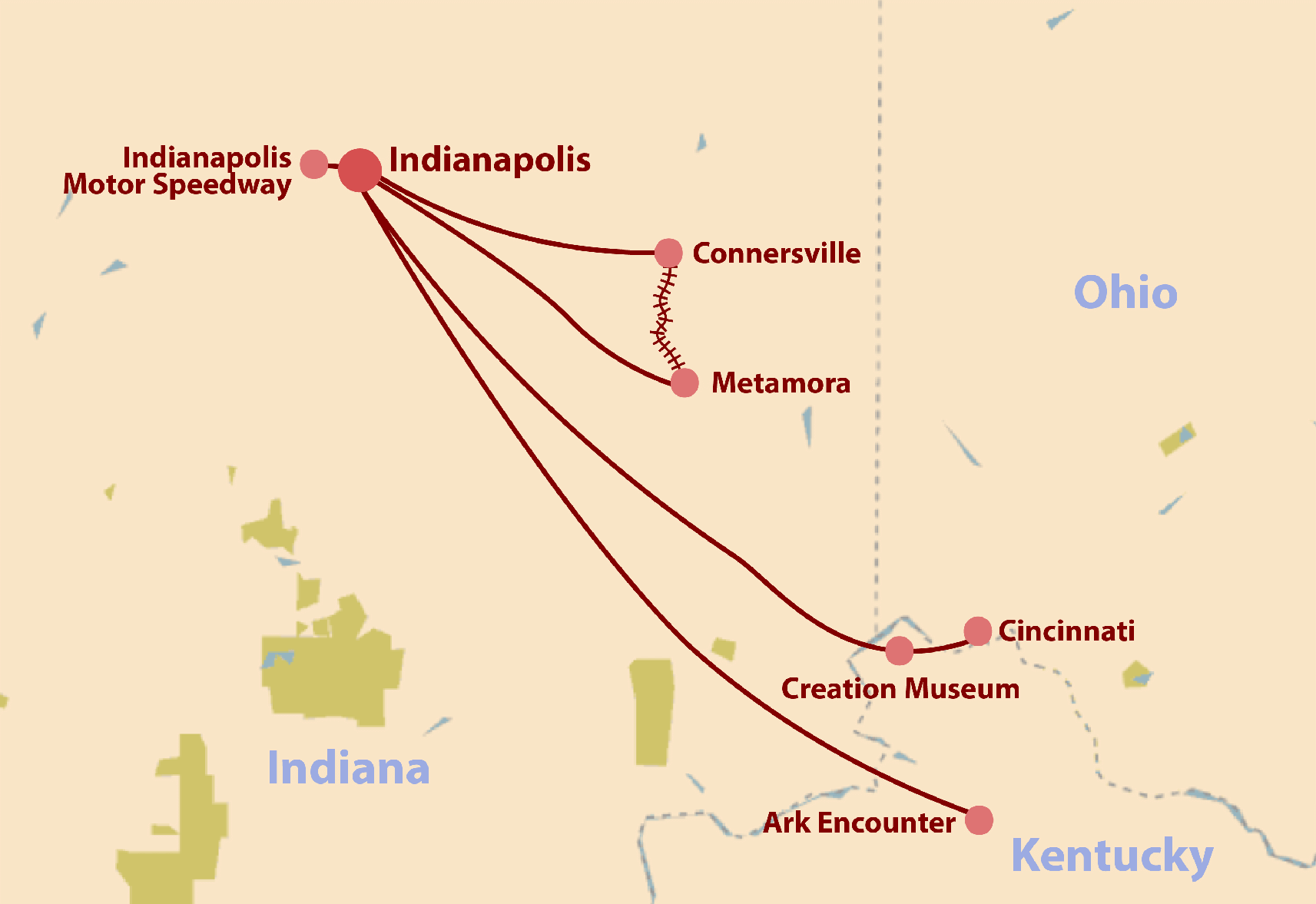 General Conference Tour Map