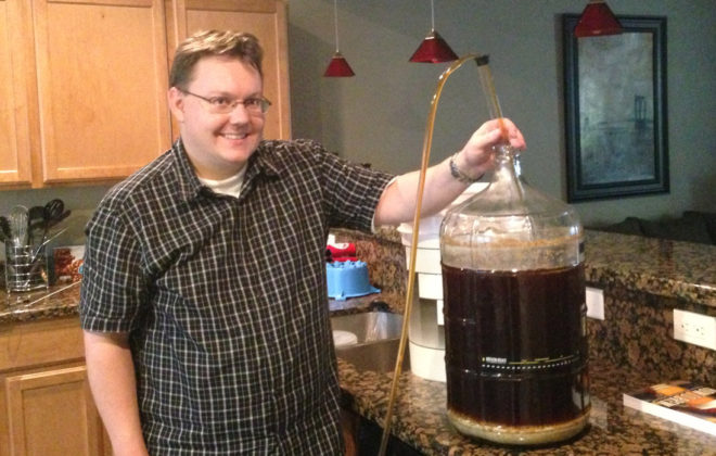 Eight days after Brew Day No. 2, I transferred the brew into a secondary fermenter.