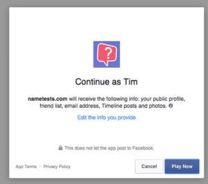 Facebook App Example
