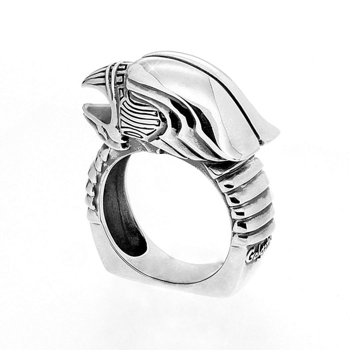 Golgotha Ring Eagle Sterling Silver Rose Gold Yellow Gold
