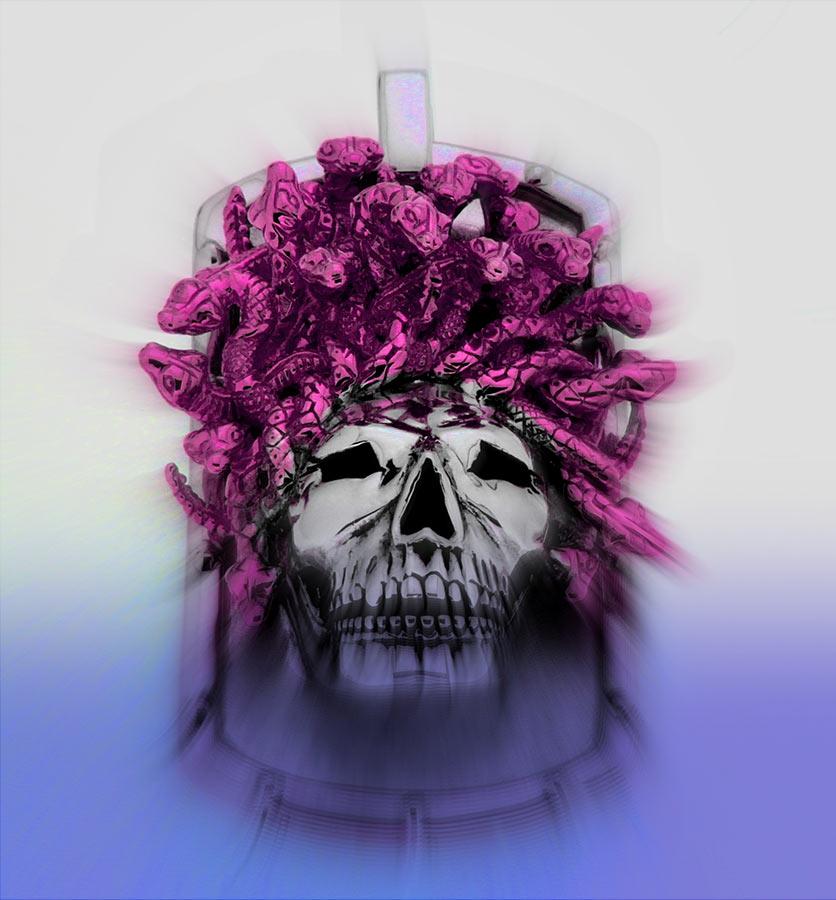 Lolan T Lookbook Golgotha Collection Tags Medusa Skull
