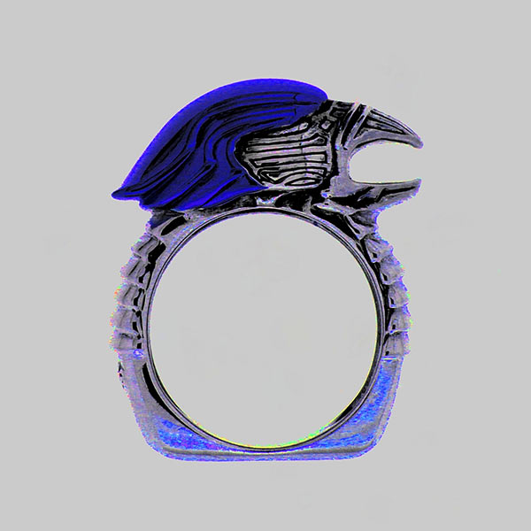Lolan T Lookbook Golgotha Collection Rings Eagle Head