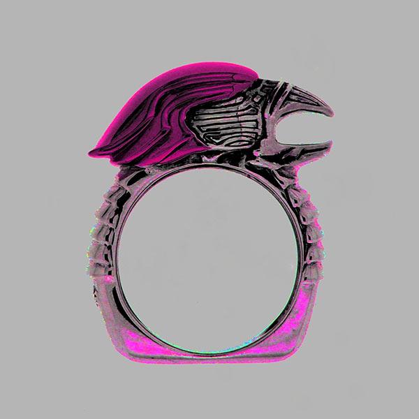 Lolan T Lookbook Golgotha Collection Rings Eagle Head