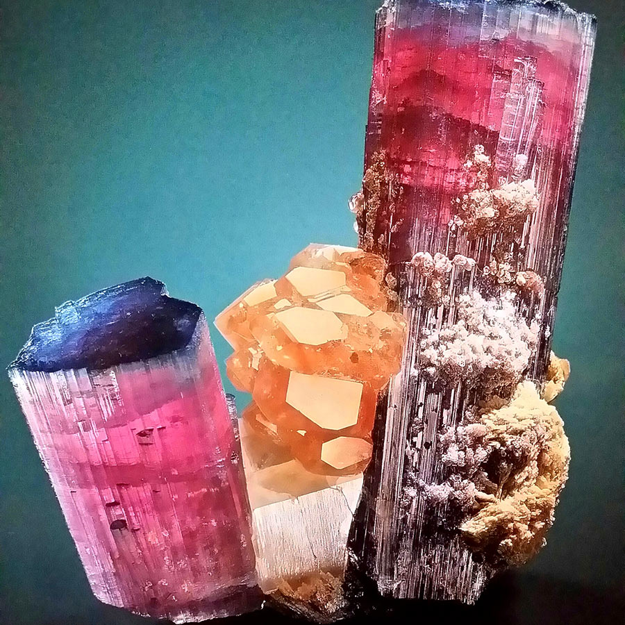 Lolan T Lookbook Blue Top Tourmaline Crystals