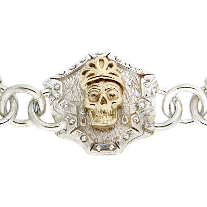 Golgotha Bracelet Skull Queen Sterling Rose Gold Yellow Gold