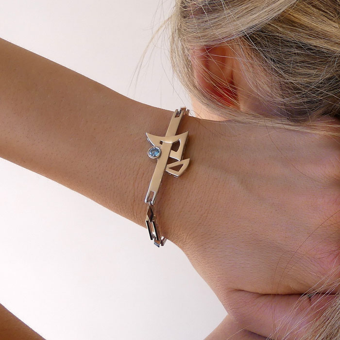 MOD Bracelet Sterling Silver Rose Gold Yellow Gold CZ