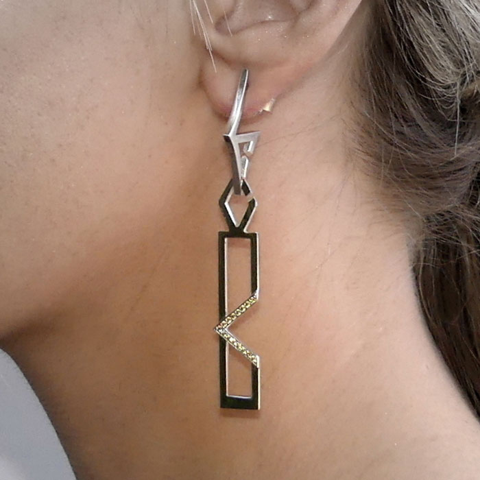 MOD Collective Earrings Earring Charm CZ Sterling Silver