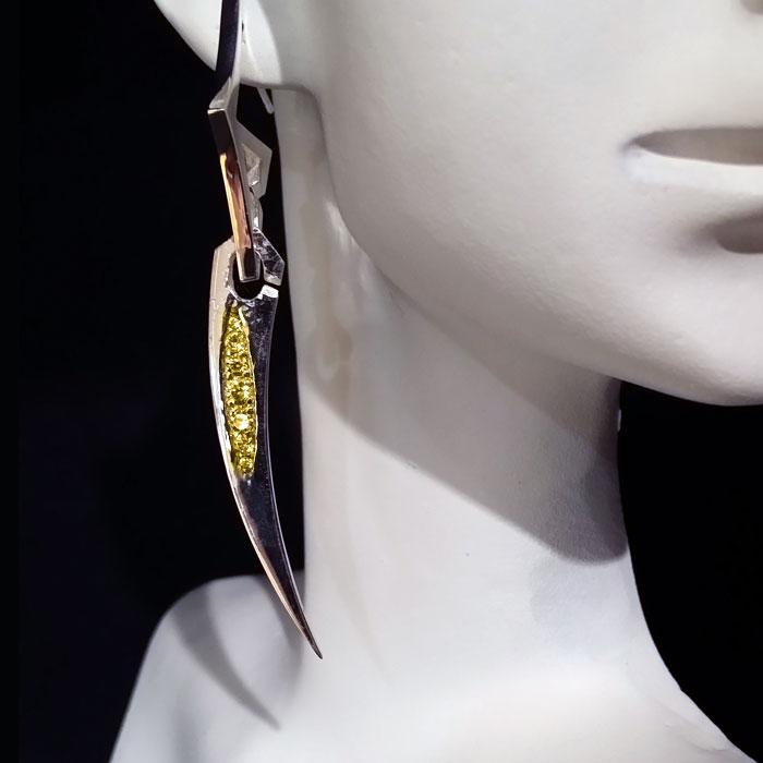 MOD Earrings Earring Charm Silver Rose Gold Yellow Gold CZ