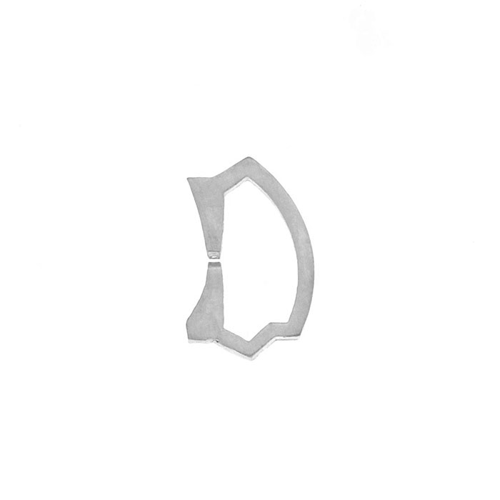 Nineteen Letter D Charm Sterling Yellow Gold Rose Gold