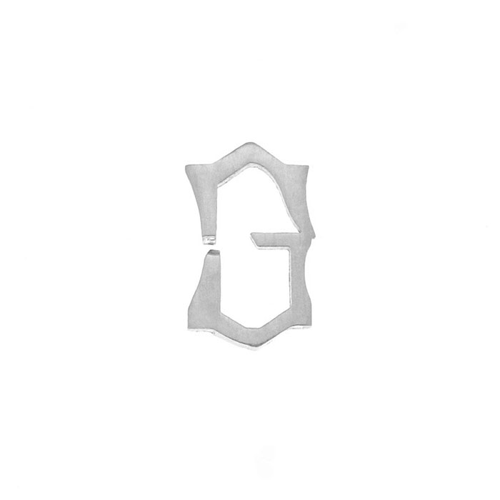 Nineteen Letter G Charm Sterling Yellow Gold Rose Gold