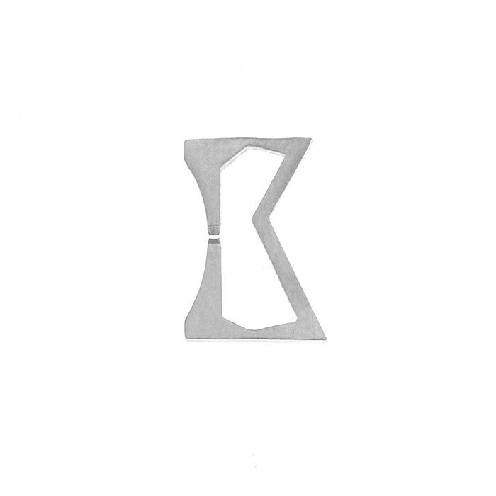 Nineteen Letter K Charm Sterling Yellow Gold Rose Gold